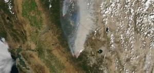 Yosemite Rim Fire Satellite Image