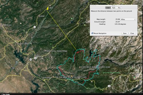 Yosemite Rim Fire Perimeter (Aug 24, 2013)